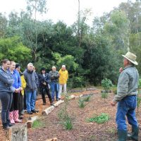 The guided walk at the Bushtucker and Birds SSS