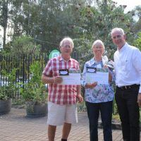 Bob and Pam Montgomery with MP Greg Piper