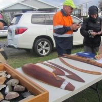 Cultural Artifacts on display at Chalky Beach event